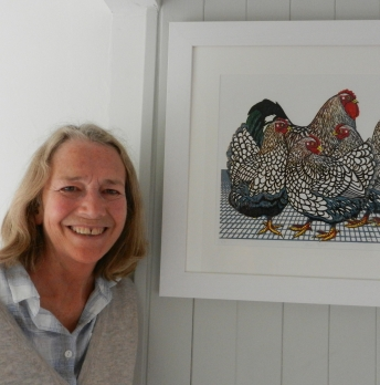 Nicky Beaumont with her print